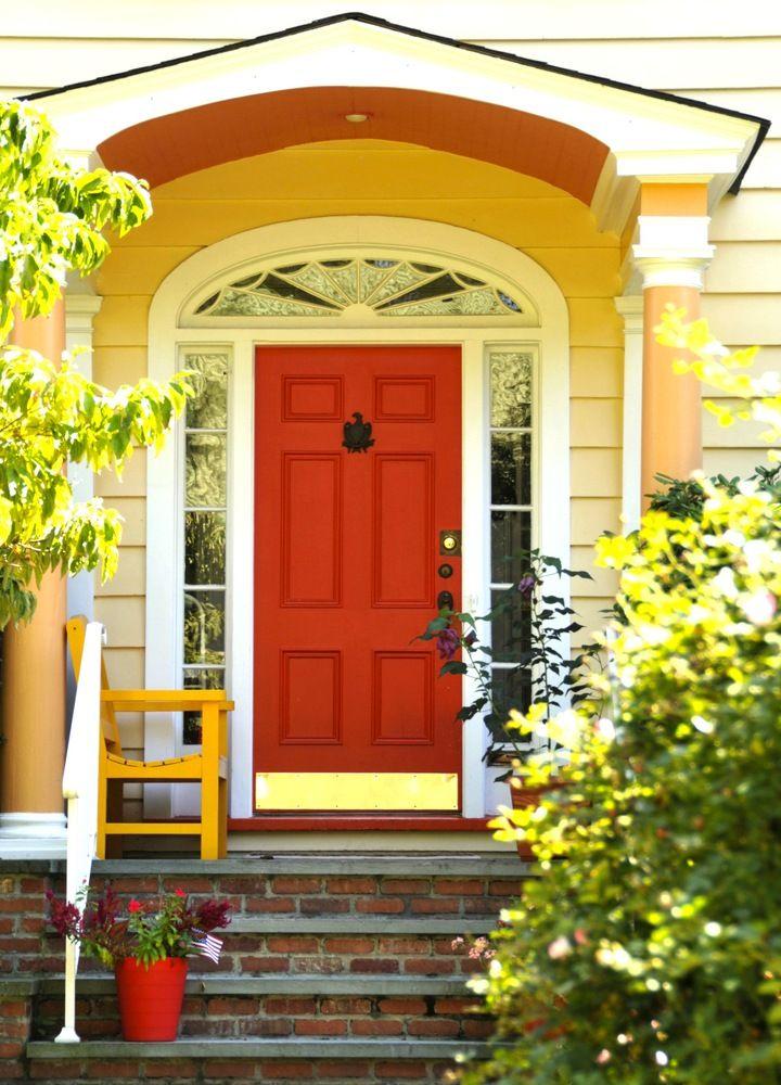 8 Unusual Colors You Haven T Considered For Your Front Door But Definitely Should Burnt Orange Puertas De Colores Puertas Pintadas Puertas
