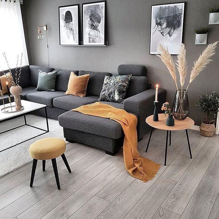 Photo of Interiørdesign og boliginnredning på Instagram: Enkel og romslig stue!