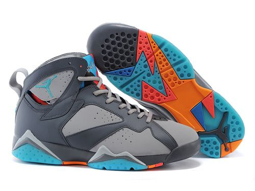 new style fc738 2b95a Nike Air Jordan 7 VII Grey Blue Orange Men Shoes AAA,Price  80