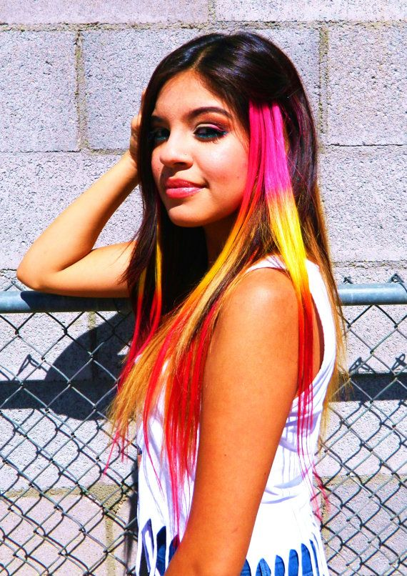 Breathtaking Color Ideas With Outstanding Section Of Colorful Hair