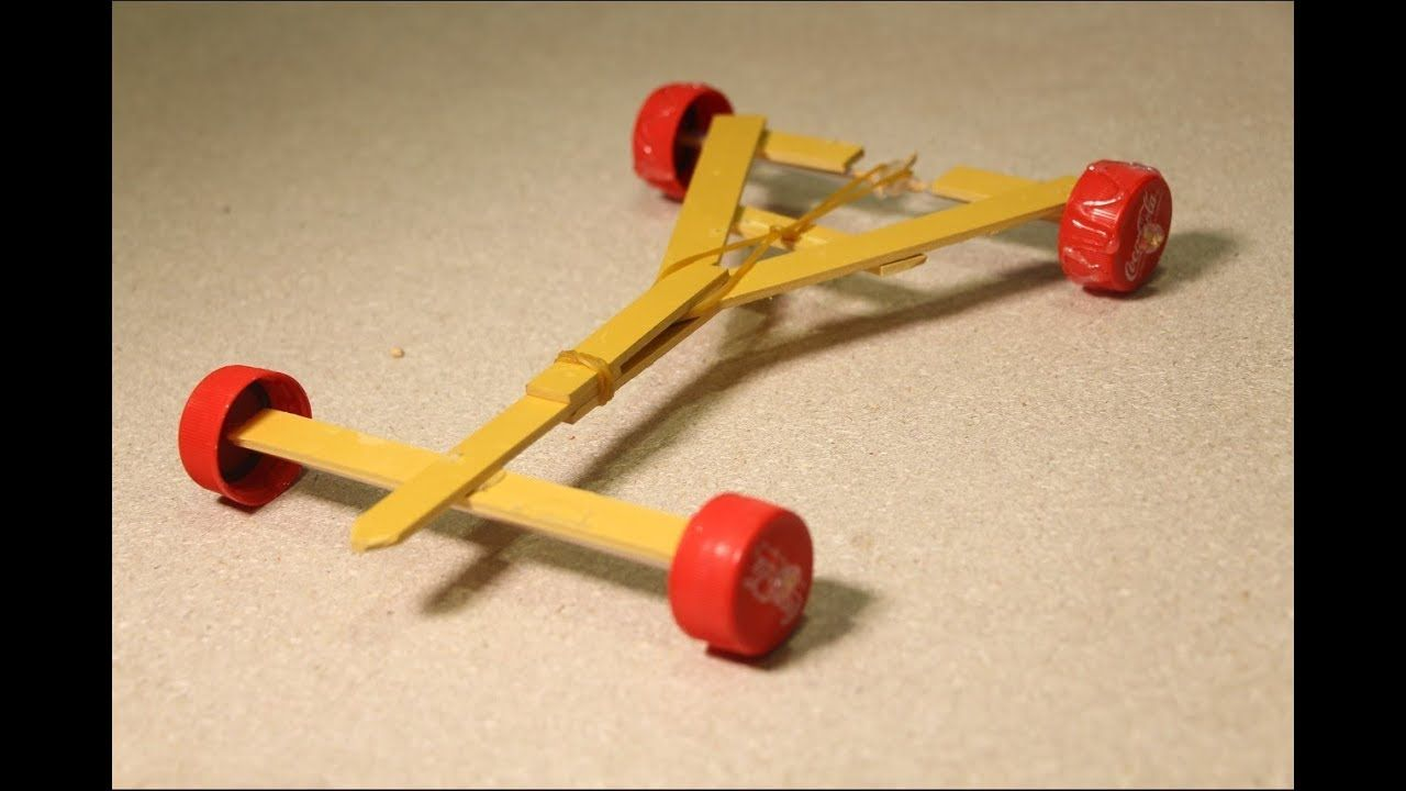 Stylish Powerful Rubber Band Car  Homemade Projects For Kids  Kid