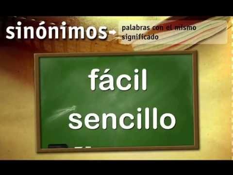 Sinónimos y antónimos para niños