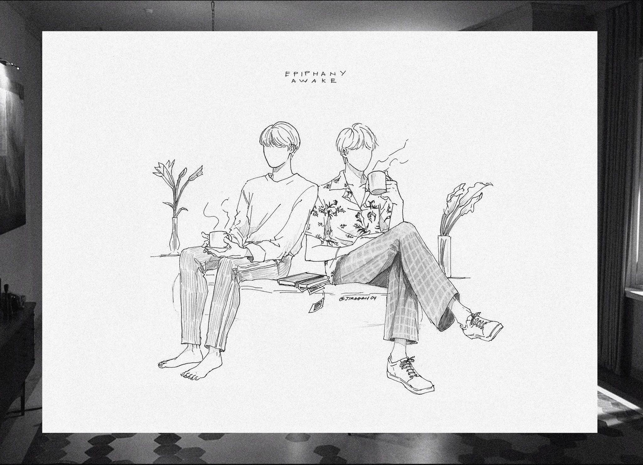 #btsfanart #jin #awake #epiphany | Bts desenho, Desenhos ...