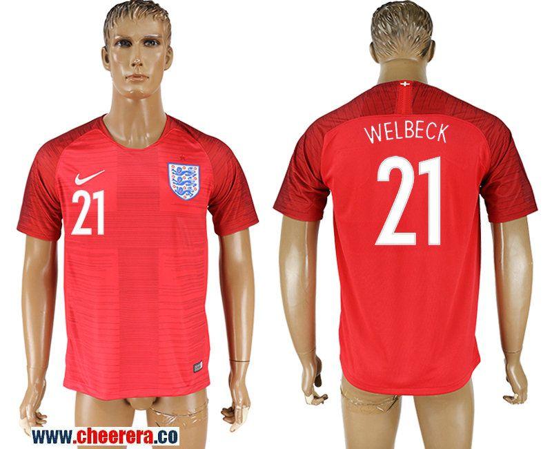 1ff599965 England 21 WELBECK Away 2018 FIFA World Cup Thailand Soccer Jersey ...