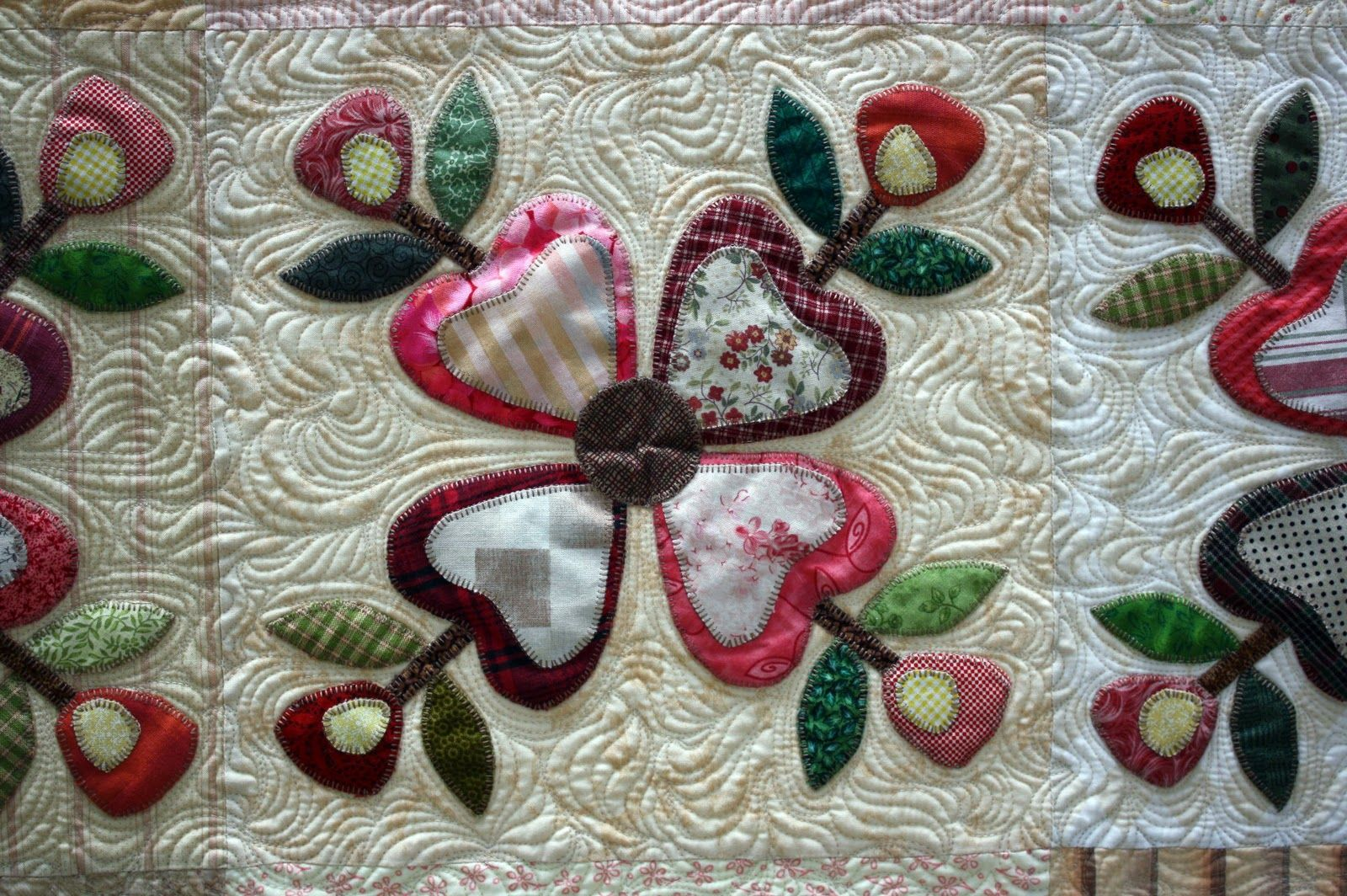 Flower Applique Quilt Patterns Awesome Decorating Design