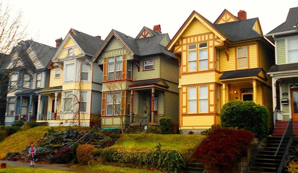Houses in Tacoma.
