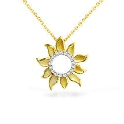 Yellow gold sun pendant with mother of pearl inlay and diamonds yellow gold sun pendant with mother of pearl inlay and diamonds chain included aloadofball Gallery