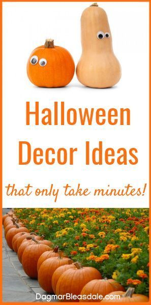 5-minute Halloween Decorations ideas that you just HAVE to see - natural halloween decorations
