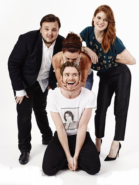 Rose Leslie, Richard Madden, Michelle and Samwell Tarly (I actually don't remember his name :P)