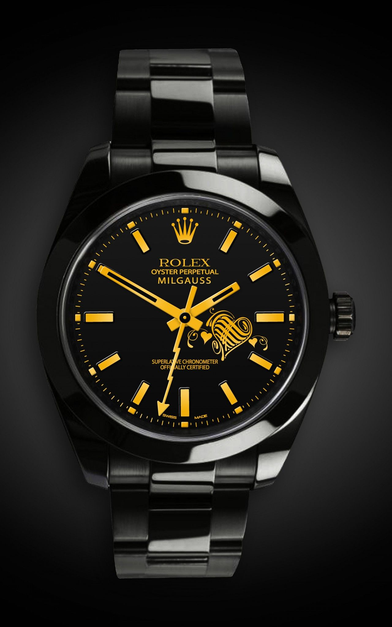 homage pvd rolex watches air dlc collection custom king black titan