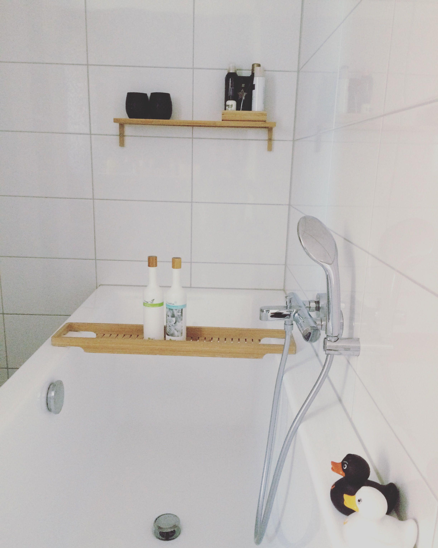 Badkamer zwart wit badkamer accessoires van Ikea bamboe accessoires ...