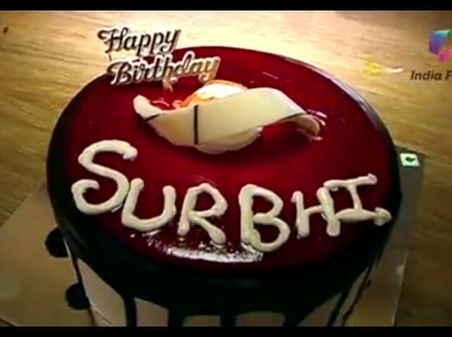 Surbhi Jyoti Birthday Cakes I Dont Know If She Have More Cakes
