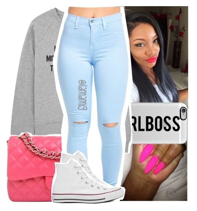 """so they can't help but to come & hate on it"" by lamamig ❤ liked on Polyvore featuring Casetify, Chanel and Converse"