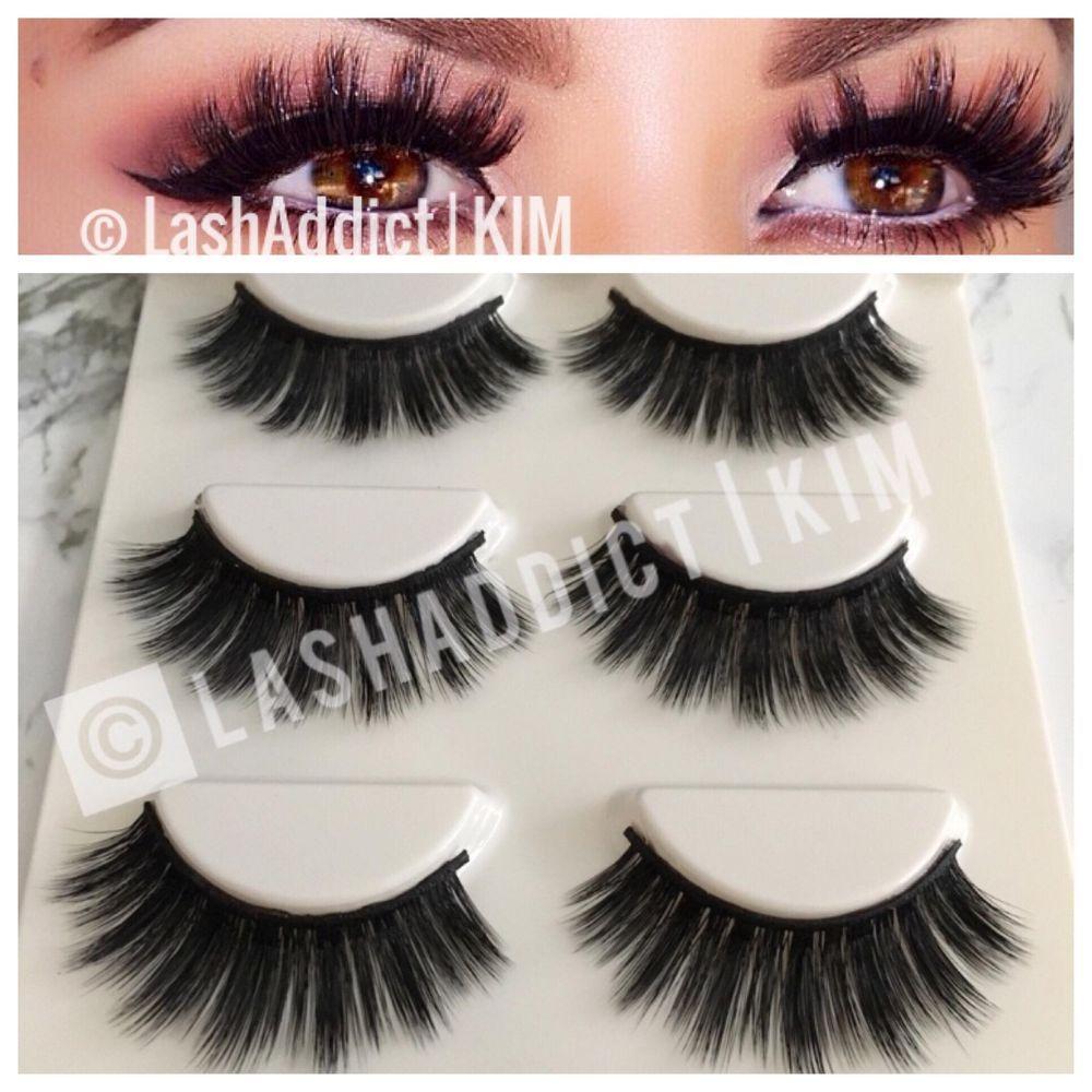 0375334076f Glam MINK Lashes 3D Eyelashes 3 Pair / Silk Lashes Make Up Fur 💖 US SELLER  #MinkSilk