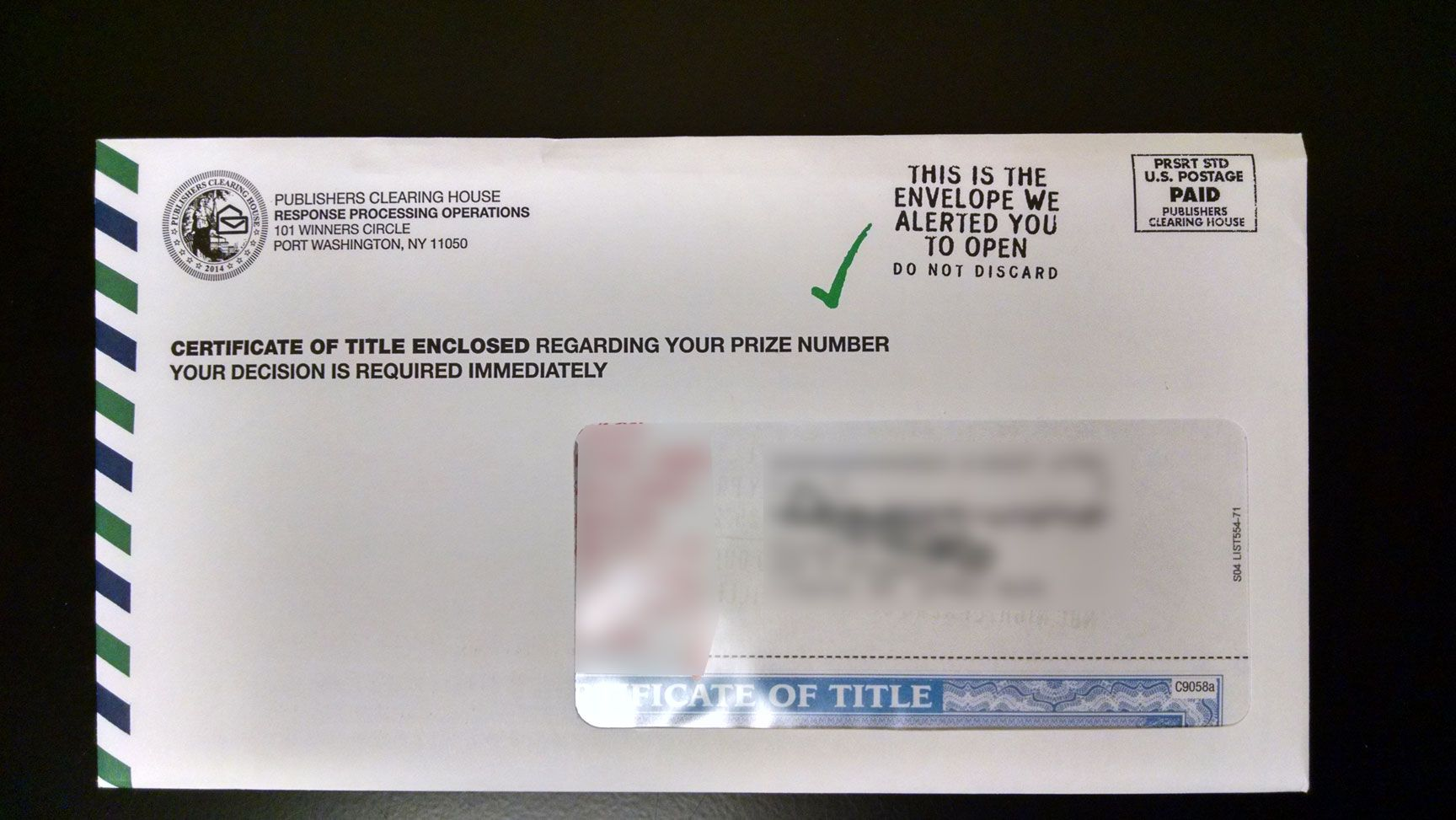 Did You Receive A Certificate of Title in the Mail