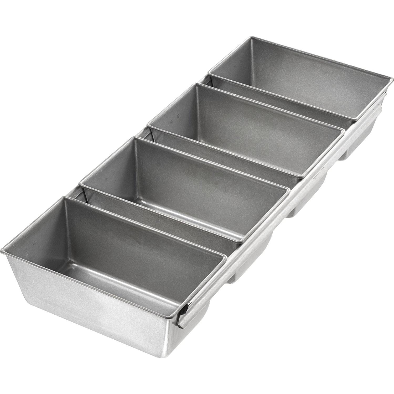 Usa Pans Strapped Mini Loaf Set Of 4 Mini Loaf Mini Loaf Pan