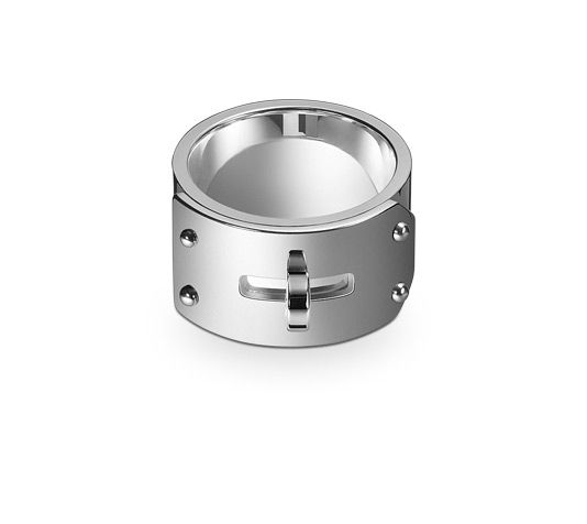 1d4cff966e62 Kelly Silver Ring GM Hermes ring in silver, GM, size 52,  830   My ...