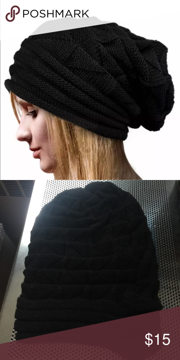 660ba9388fa Acrylic Soft Black Baggy Beanie Hat 100% brand new and high quality. Color  Black. Material  100% Acrylic. Style Beanie