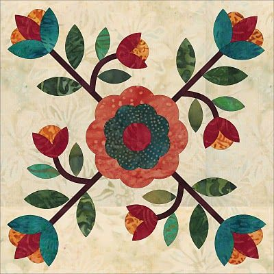 I Have 4 Or 5 Blocks Done In My Rose Of Sharon Quilts