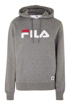 Sweat à capuche avec logo, Fila