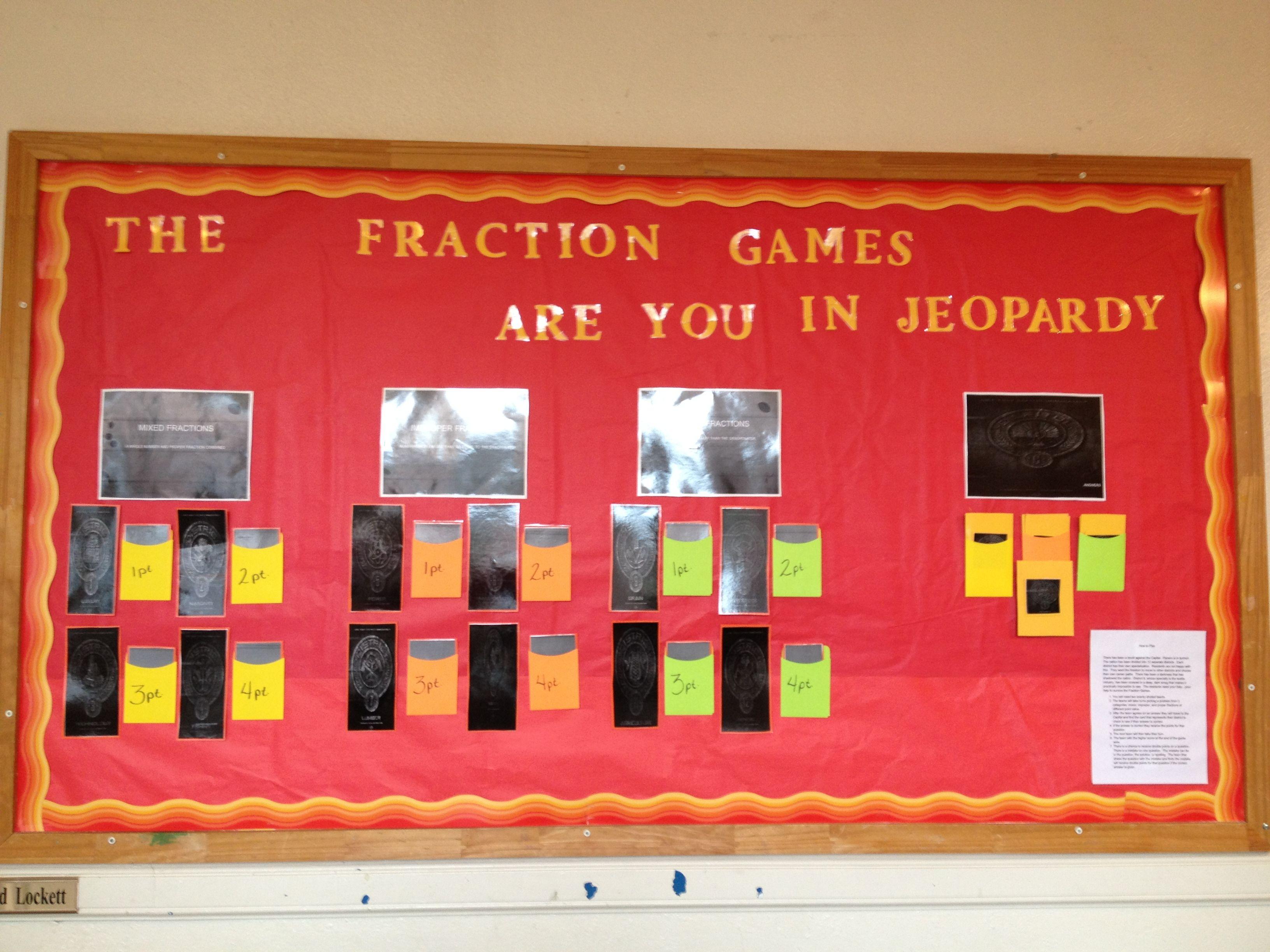 This Is A Bulletin Board I Did For A 6th Grade Math Class Math Class Math Math Fractions [ 2448 x 3264 Pixel ]