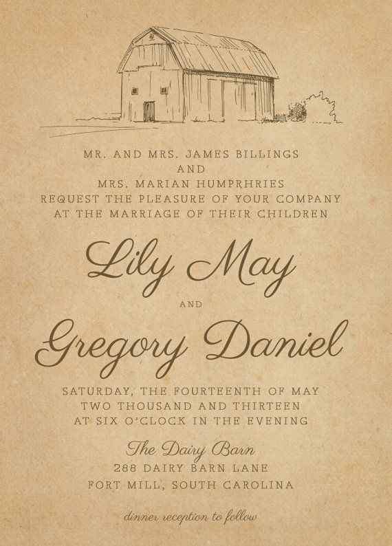 Barn Wedding Invitations | Rustic Farm Wedding Invitations The Dairy Barn Invitation Suite