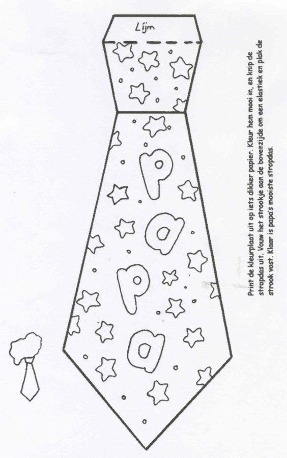 Cravate papa f te des parents f te des p res fete des p res maternelle et bricolage f te - Cravate dessin ...