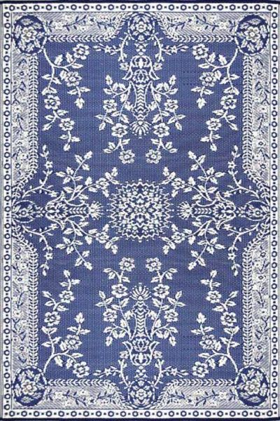 Mad Mats Oriental Garland Blue And White Rug Everything