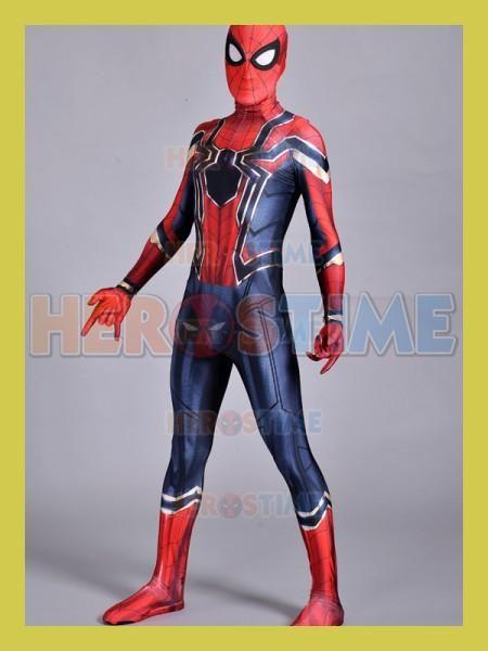 Iron Homecoming Spiderman Costume Cosplay 3D Print Zentai Iron Spider-man Movies Costumes Spidey Iron & Iron Homecoming Spiderman Costume Cosplay 3D Print Zentai Iron ...