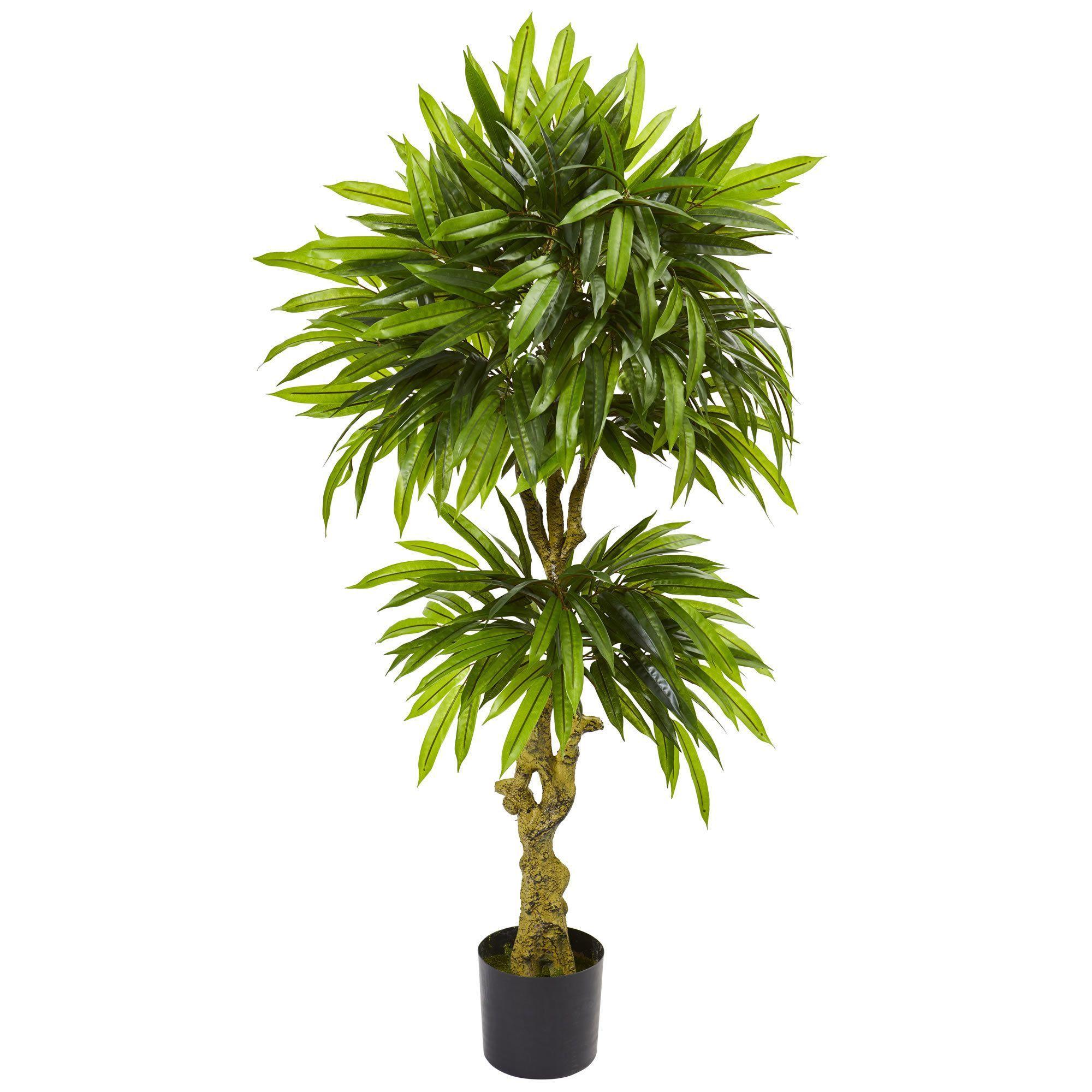Nearly natural slim mango artificial tree uv resistant indoor