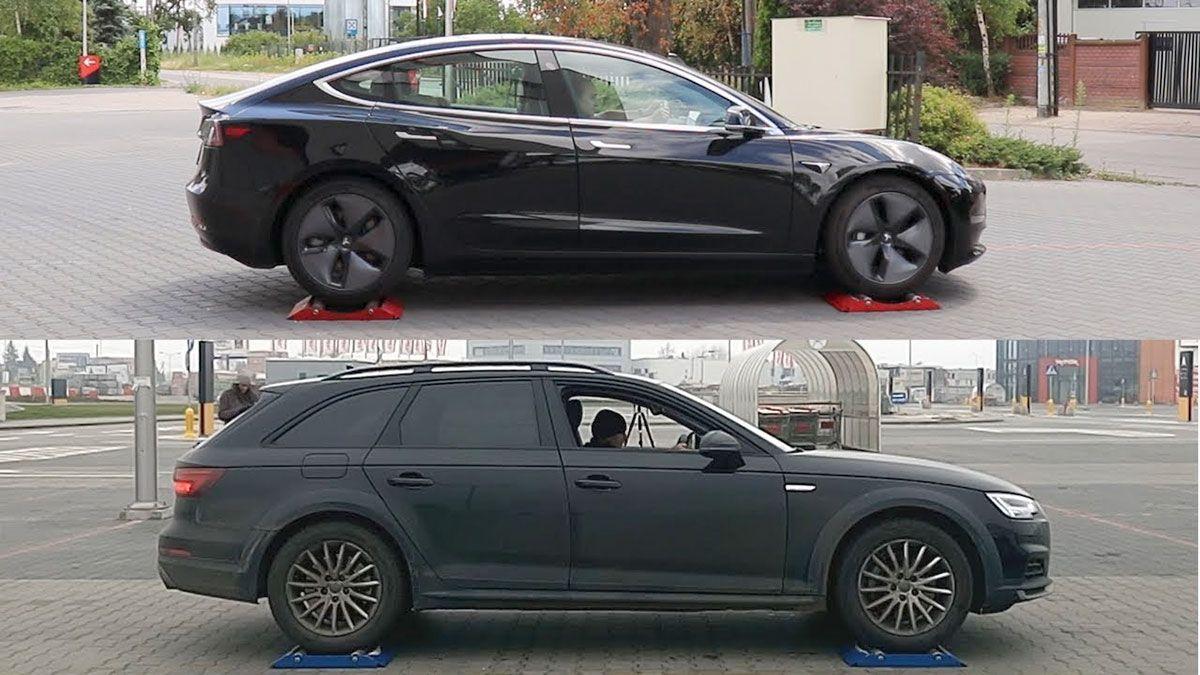 Tesla Model 3 Awd Vs Audi A4 Quattro Traction Control Tests Video In 2020 Audi A4 Audi Tesla