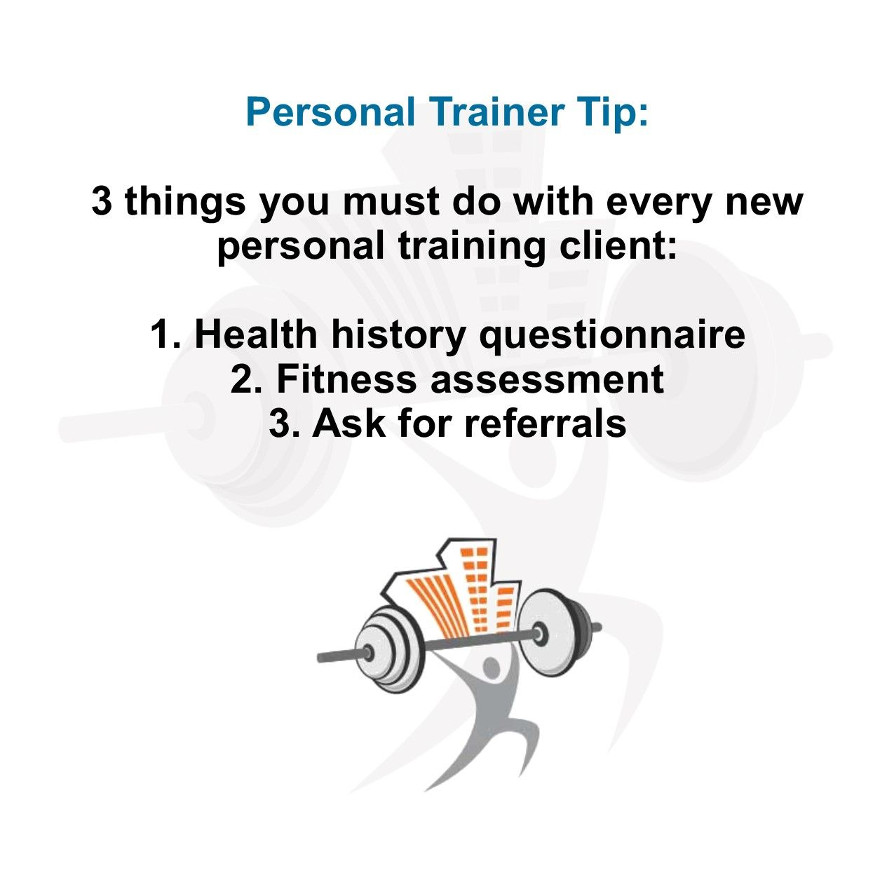 Personal trainer tip 3 things you must do with every new personal personal trainer tip 3 things you must do with every new personal training client xflitez Gallery