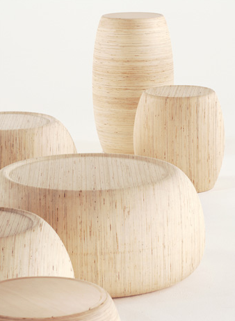 :: FURNITURE :: adore - Motley II pieces designed by London-based, Samuel Chan of Channels. These are now being showcased at this years 100% Design London. #furniture #wood