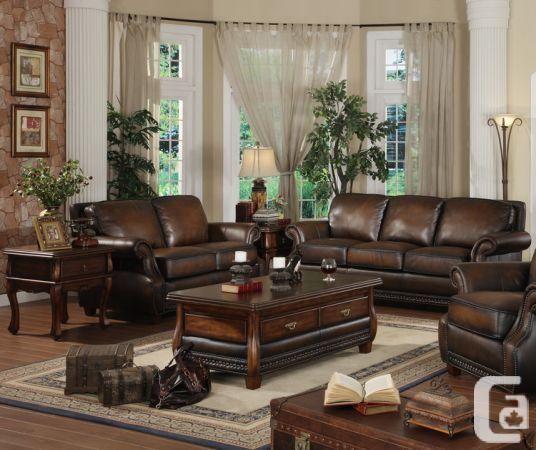 Lazzaro Leather Furniture Prato Sofa Love Seat Used 1 Year 2800 Montreal In