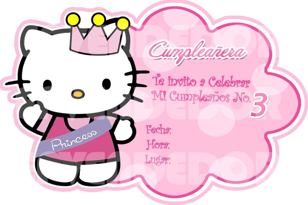 Imagen Invitacion Hello Kitty Invitaciones Epve Bsf