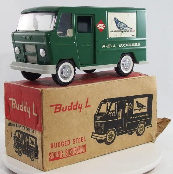 Vintage 1960 S Buddy L R E A Express Step Van With Box Etsy Buddy L Tonka Toys Tonka Truck