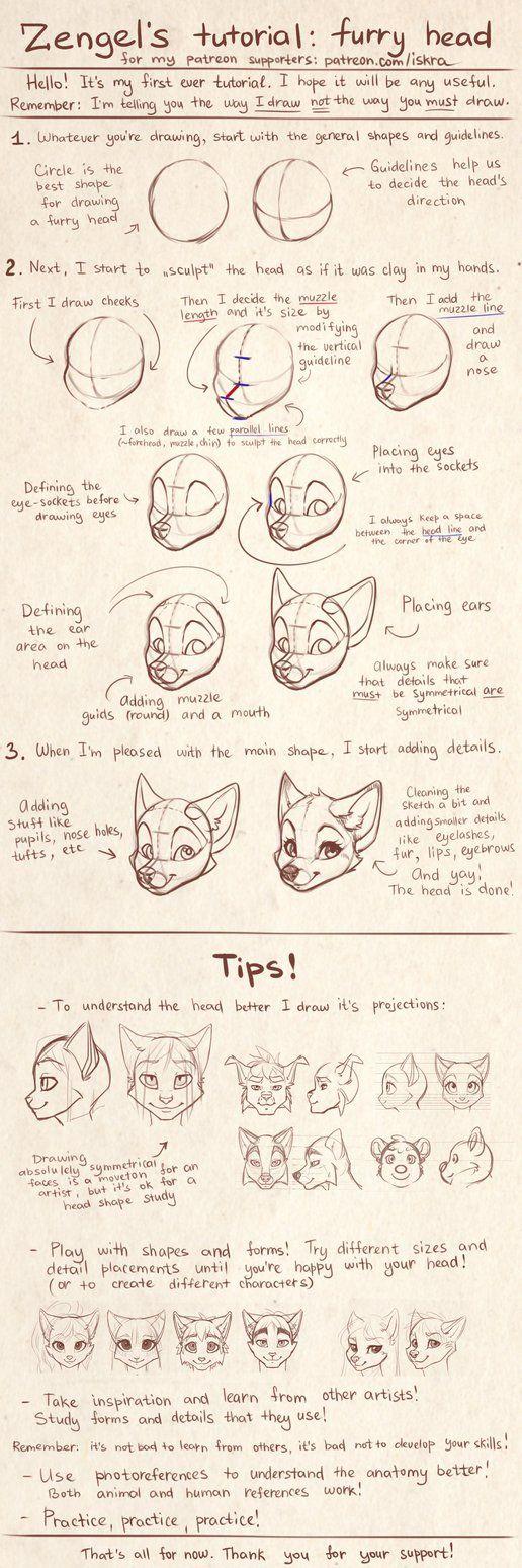 Zengel\'s tutorial - furry heads. by Zengel on DeviantArt | персы ...