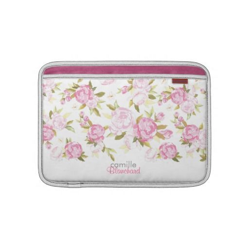 Personalized Floral Vintage Dream Sleeves For MacBook Air