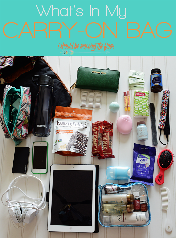 What I Pack Inside My CarryOn Bag is part of I Should Be Mopping The Floor What I Pack Inside My Carry On Bag - An Inspirational Home & Lifestyle Blog with Thousands of Free HighEnd Printables and Loads of DIY Projects for your space