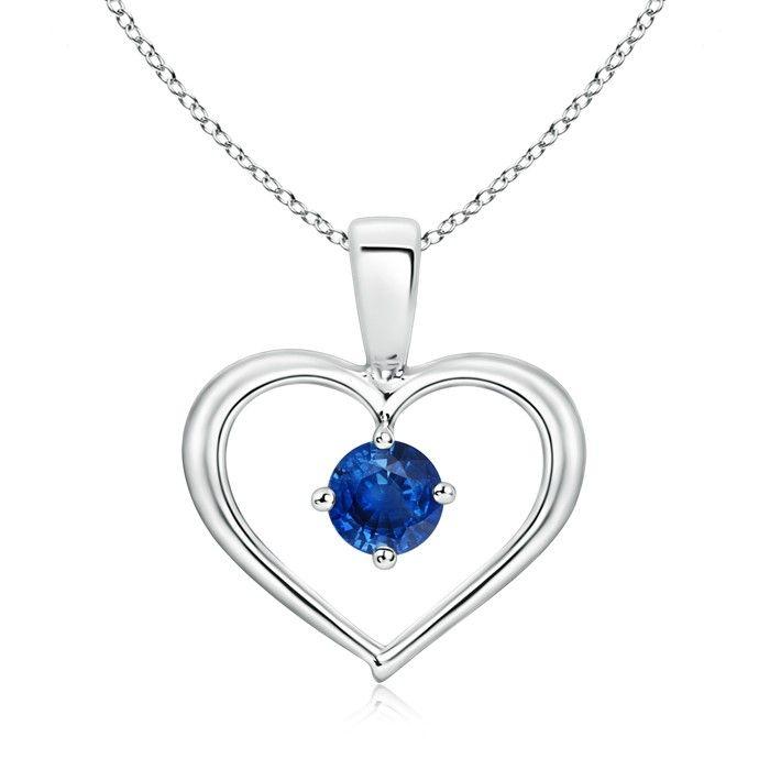 Angara Blue Sapphire Solitaire Pendant in Platinum del46edl