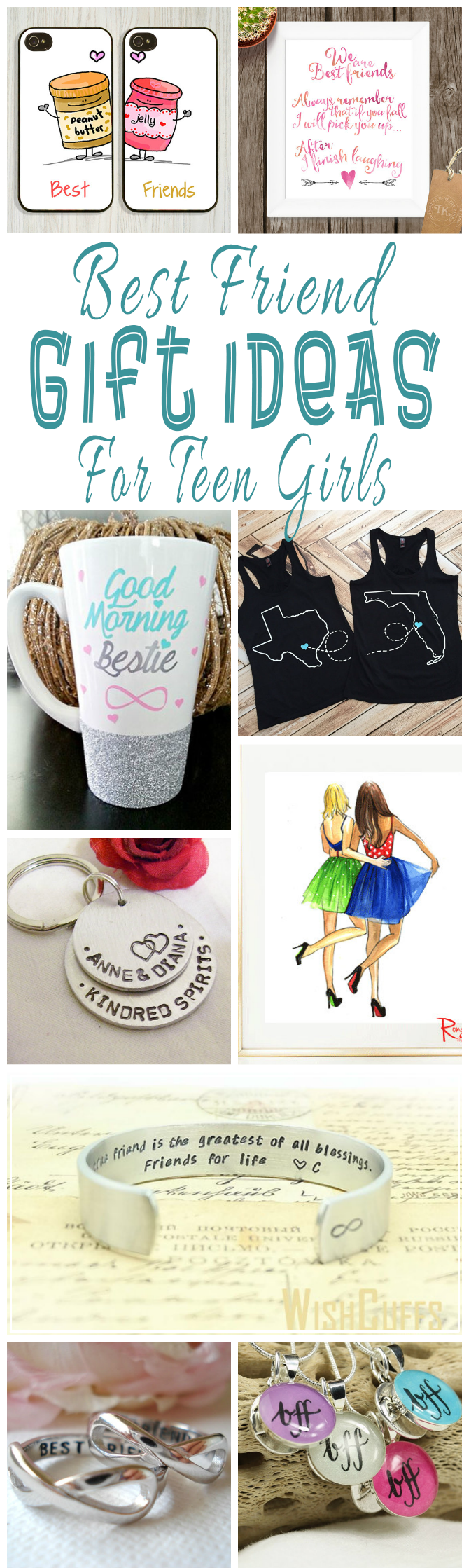 A Collection Of Unique Hand Crafted Or Designed Best Friend Gift Ideas For Teen Girls