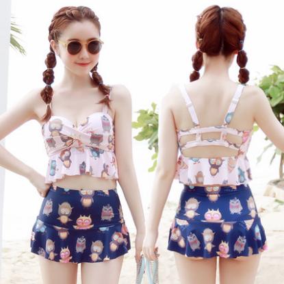 Sweet Printed Bikini Skirt Two Piece Outfit Ropa Kawaii Ropa
