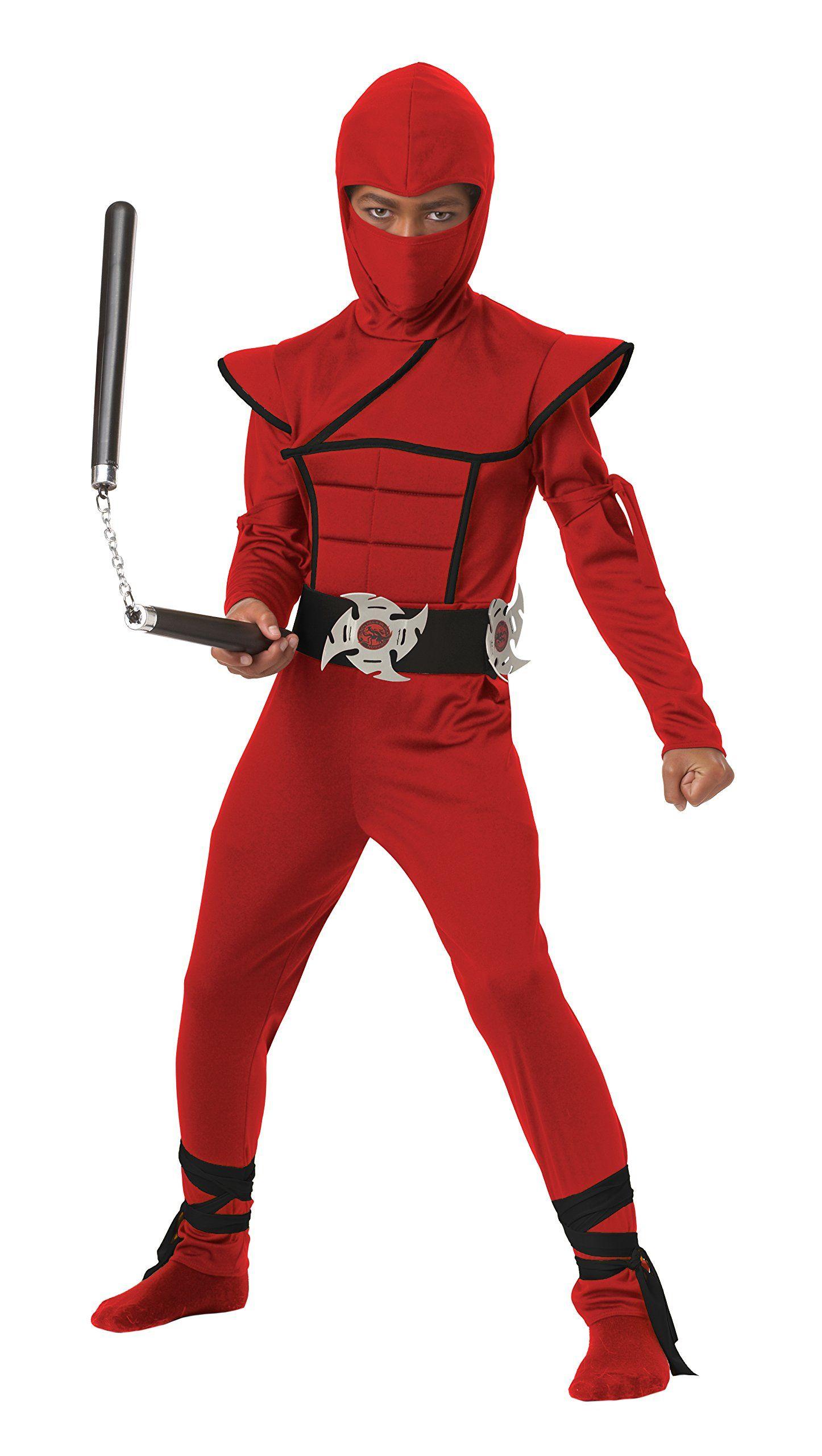 Boys Power Ninja Japanese Samurai Warrior Kids Child Fancy Dress Outfit Age 4-13
