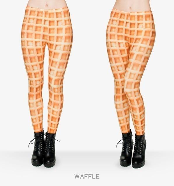 Fashion Fast Food Comix 3D Printing Punk Women Ladies Legging Stretchy Trousers Casual Pants Leggings - lga29748 / One Size