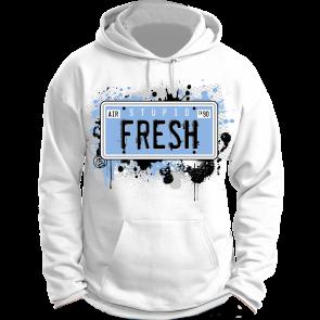 274f4a8b491a Jordan 11 Legend Blue Hoodie - Stupid Fresh - White