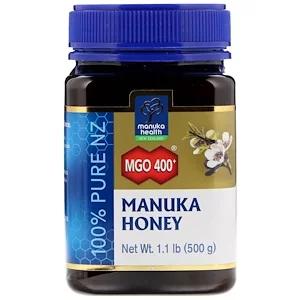Manuka Health Manuka Honey Mgo 400 1 1 Lb 500 G In 2020 Manuka Honey Health Types Of Honey