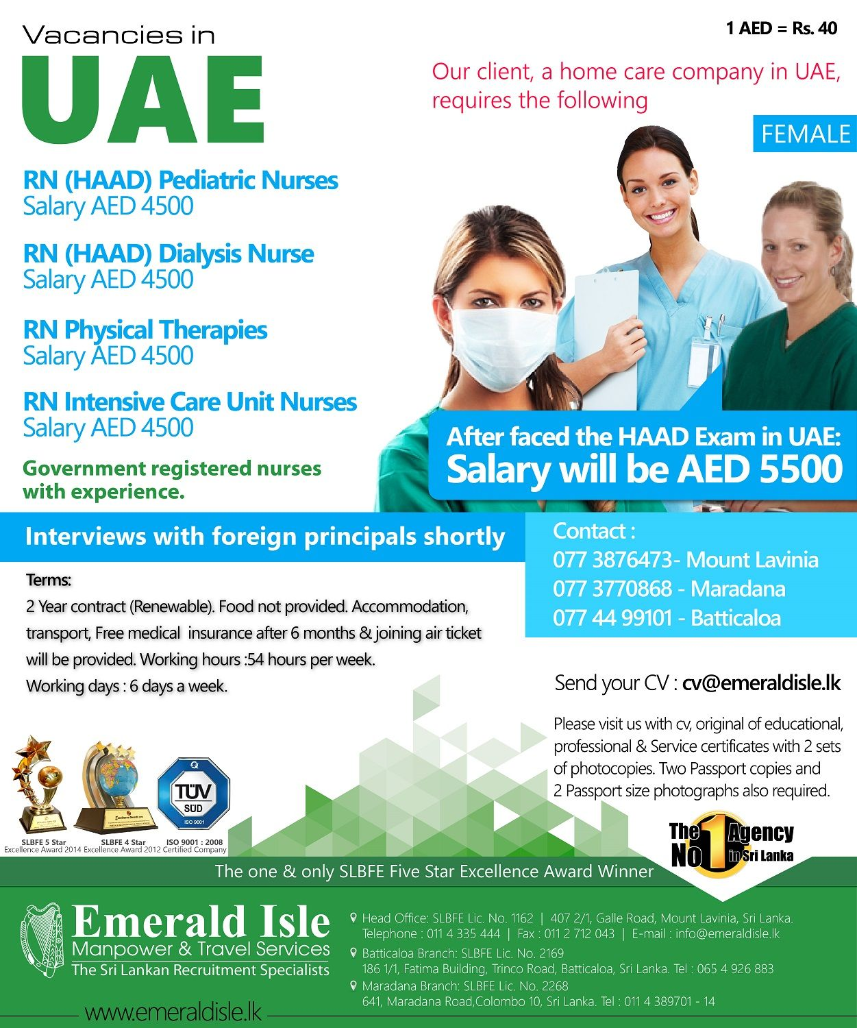 Foreign Jobs Foreign Employment Foreign Vacancies Dialysis Nurse Caring Company Intensive Care Unit