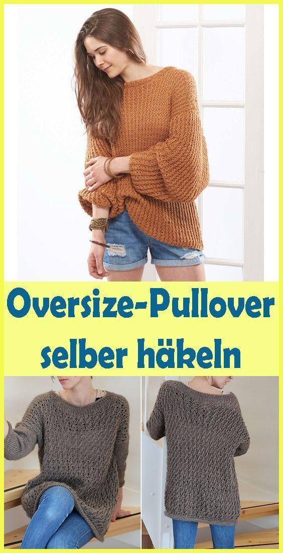Photo of Gehäkelter Oversize-Pullover – einfache Anleitung für Oversize-Pullover – H …, #Anleitungen…