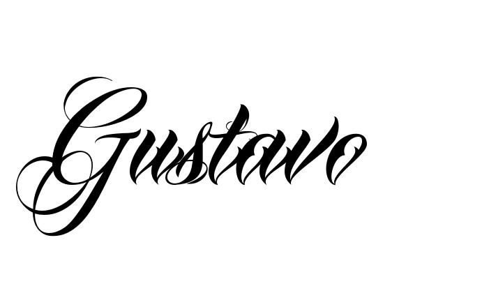 Faa voc mesmo criador tatuagem online tatuagens pinterest tatuagem do nome gustavo utilizando o estilo anha queen script thecheapjerseys Image collections