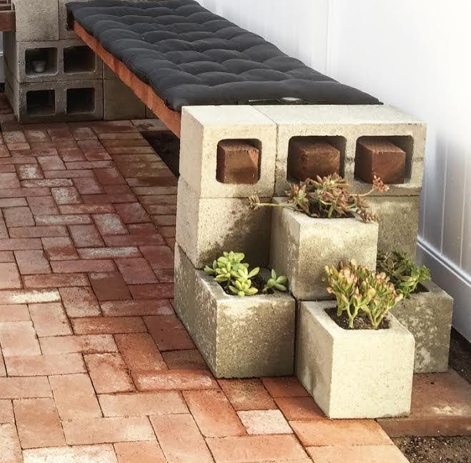DIY Cinder Block Bench - MINCE REPUBLIC